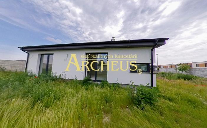4-izbový dokončený bungalov na slnečnom pozemku, novostavba, Hrubá Borša pri Senci